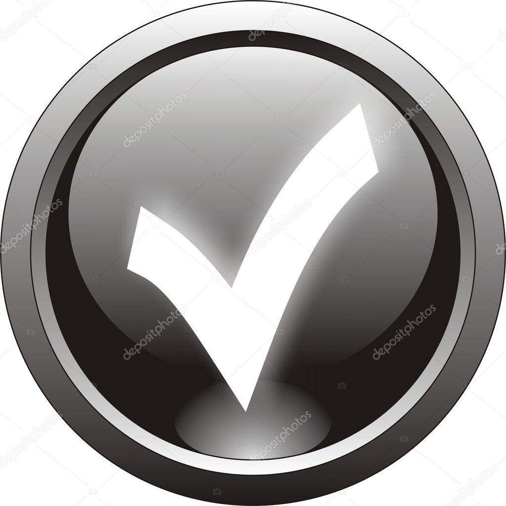 黑色刻度线或复选标记图标— 矢量图片作者 svtrotof