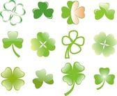 Clover or shamrock for St Patrick's day — Stock Vector