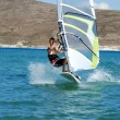 Stock Photo: Windsurfing on the move