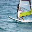 Windsurfing  on the move — Stock Photo