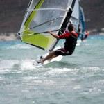 Windsurfing on the move — Stock Photo