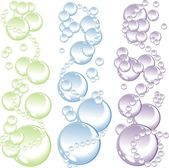 Bubbles background — Vector de stock