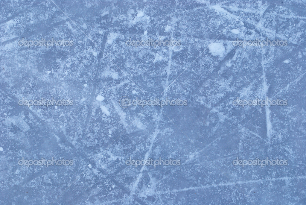 Ice rink with snow texture  — Stock Photo #5319673