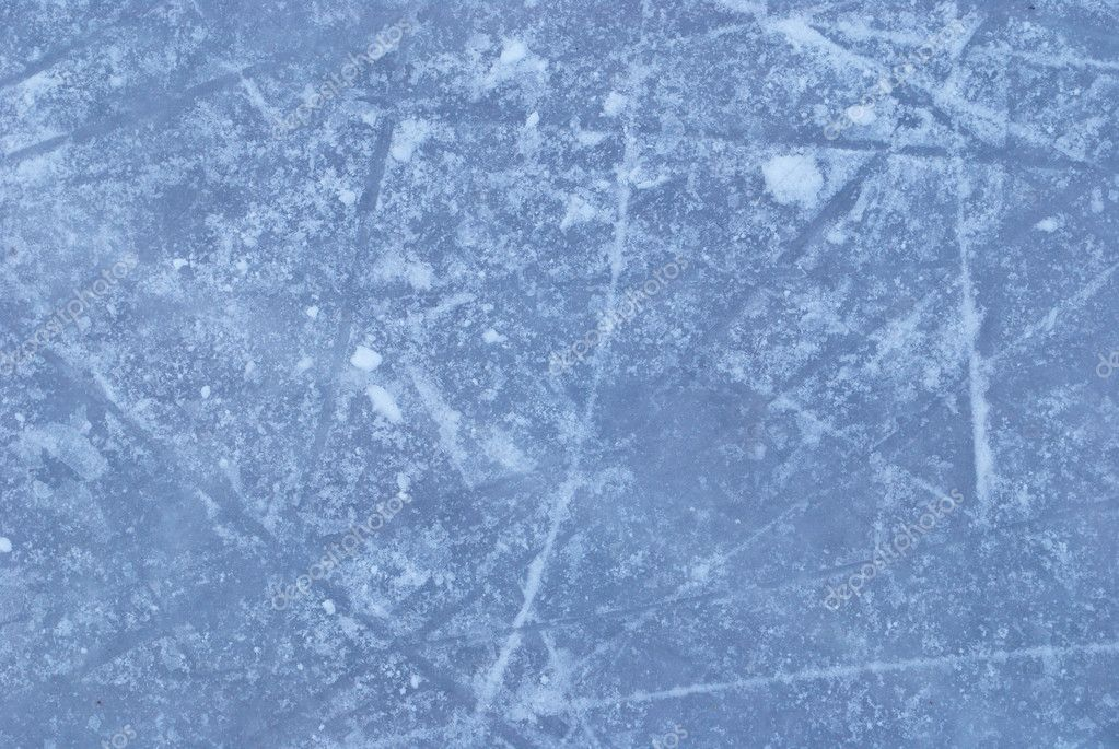 Ice rink with snow texture — Stock Photo © svtrotof #5319673