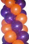 Balões laranja e violetas — Foto Stock