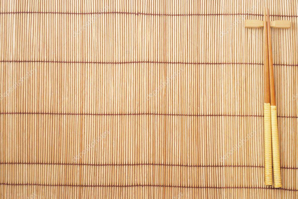 st bchen auf braun bambus matten hintergrund stockfoto. Black Bedroom Furniture Sets. Home Design Ideas