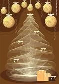 Nyår, jul, — Stockvektor
