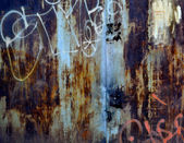 Metal, wall; dirty; backgrounds; old; textured — Stock Photo