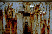 Corrosion; metal; wall; dirty; backgrounds; old; textured; — Stock Photo