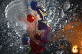 Water, drops, surge,wall;; dirty; backgrounds; — Stock Photo
