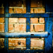 Stock Photo: Dirty; backgrounds; grid, cell, dark blue, rusty