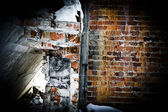Plates, concrete, ruins, dirty; backgrounds; old; textured; — Stock Photo