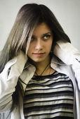 Mujer, pelo, elegancia, humanos, retrato, mujer, hairdres — Foto de Stock