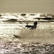 Kite Surfer in Silhouette — Foto de Stock