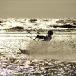 图库照片: Kite Surfer in Silhouette