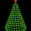 Royalty-Free Stock Photo: Christmas tree from green mirror spheres