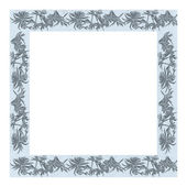 Hollow frame with textured ice pattern — Stock Photo