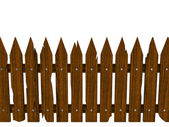 Wooden fence from crashed brown boards — Stock Photo
