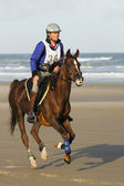 Reiten am Strand — Stock Photo