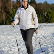 Royalty-Free Stock Photo: Nordic Walking in the snow