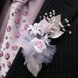 Stock Photo: Boutonniere groom.