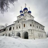 Orthodox chapel on the background of the dramatic cloudy sky — Stock Photo