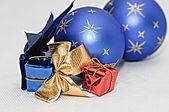 Christmas decoration - ball, gifts. — Stock Photo