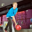 Stock Photo: Bowling player