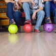 Stock Photo: Bowlin players