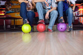Bowlin players — Stock Photo