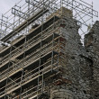 Royalty-Free Stock Photo: Castle ruins during renovation