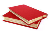 Two red books isolated on white — Stock Photo