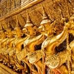 Golden garuda sculpture — Stock Photo