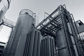 Tank farm with pipeline — Stock Photo