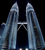 Petronas twin towers in Kuala Lampur — Stock Photo