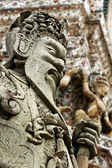 Chinese style sculpture in Thai temple — Stock Photo