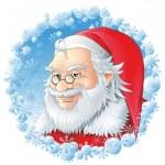 Santa Logo — Stock Vector