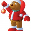 Bear-cub is in the suit of Santa — Stock Vector
