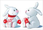 2 つのウサギ — ストックベクタ