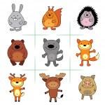 lesní zvířata — Stock vektor