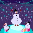 Snowman - Stock Vector