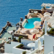 The hotel view on Santorini — Stock Photo #4477752