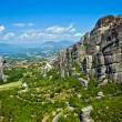 Stock Photo: The panorama view of Meteora mountains, Greece