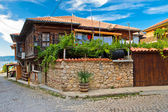 The typical house in Nesebr, Bulgaria — Stock Photo