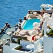The hotel on Santorini — Stock Photo #4809715