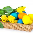 The basket with easter eggs — Stock Photo #4983268