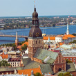 Riga Panorama city view - Stock Photo