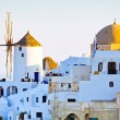Oia city view, Santorini - Stock Photo