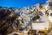 Thira on Santorini island, Greece — Stock Photo