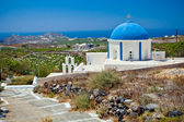 Church on Santorini island, Greece — Stockfoto